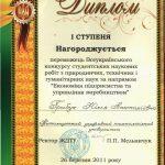 Грибук Юлія Анатоліївна: диплом переможця
