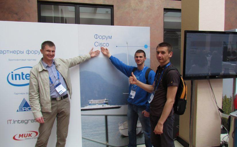Участь студентів факультету ІКТ у роботі форуму компанії CISCO «Архітектура цифрових мереж»