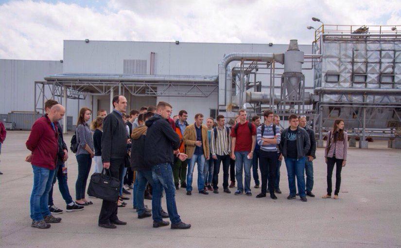 В рамках співпраці студенти ЖДТУ відвідали Коростенський завод МДФ