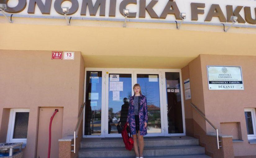 Протягом ІІ семестру студентка ЖДТУ здобувала освіту в університеті Чехії