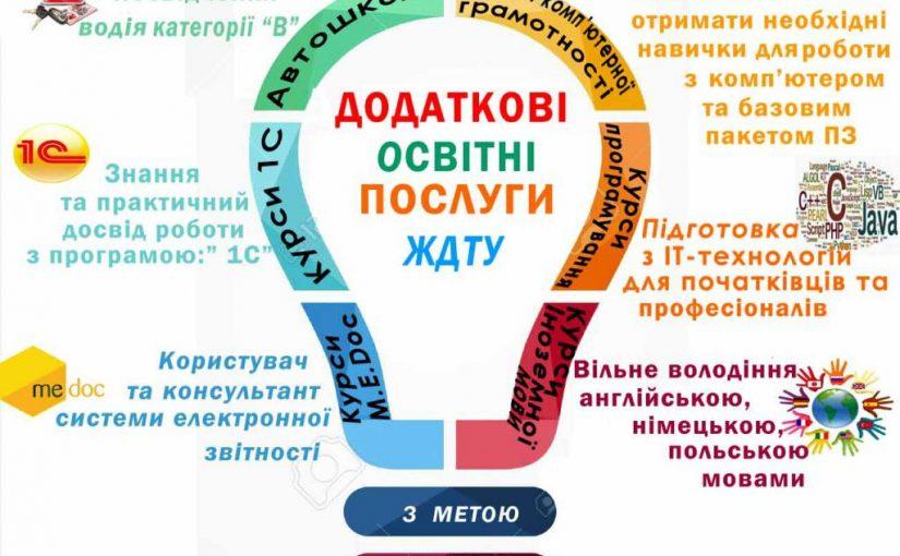 Центр післядипломної освіти ЖДТУ оголошує набір на постійно діючі курси