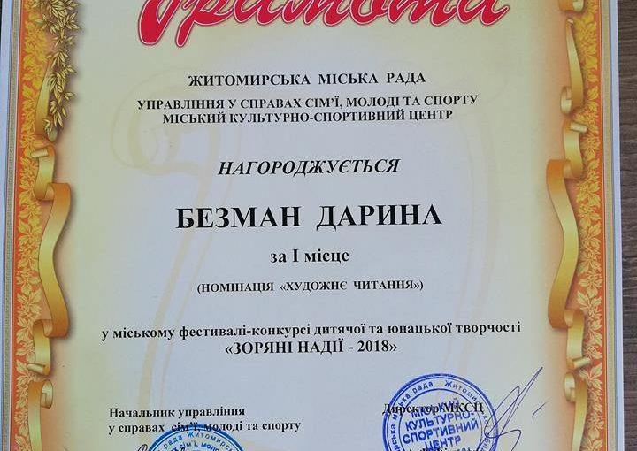 """""""Зоряні надії"""" ЖДТУ"""
