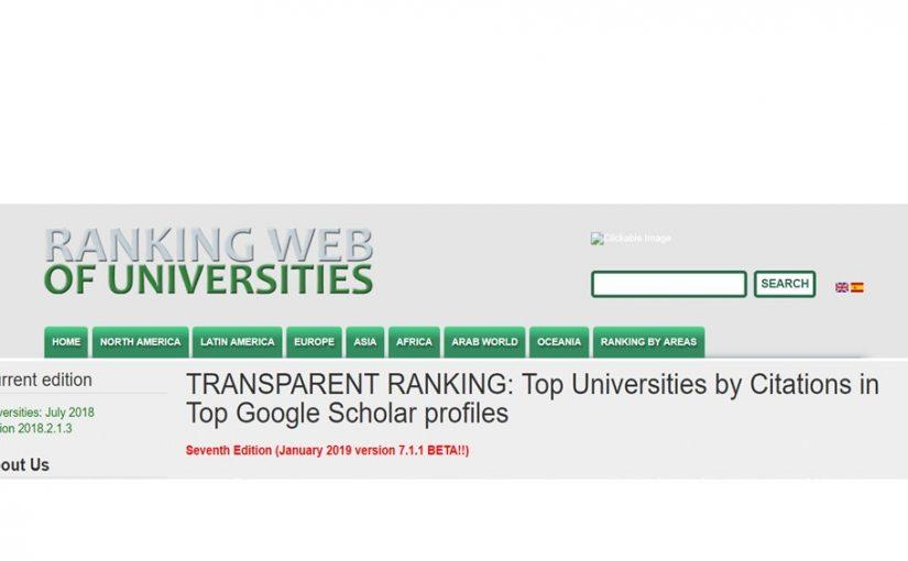 ЖДТУ – лідер серед закладів вищої освіти м. Житомира в рейтингу університетів світу за показниками Google Scholar Citations