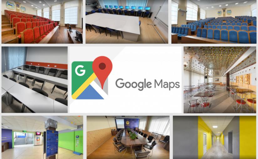 Інтерактивні сферичні 3D-панорами ЖДТУ на Google Maps