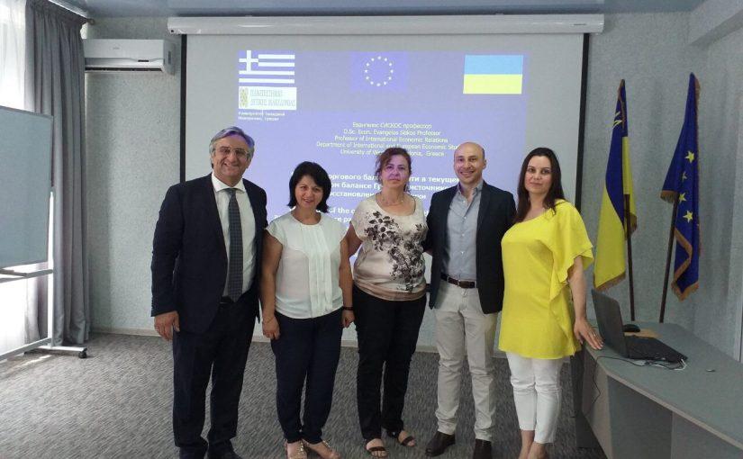 Еразмус+: візит адміністрації та викладачів Університету Західної Македонії (Греція) до Житомирської політехніки