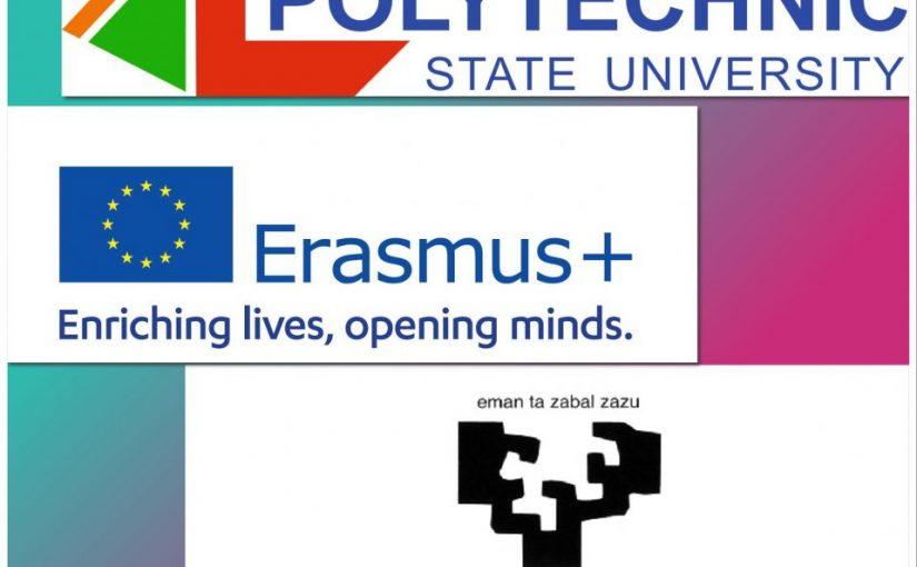 Державний університет «Житомирська політехніка» – Університет Країни Басків (м. Більбао, Іспанія): Еразмус+/ «Мобільність в дії»