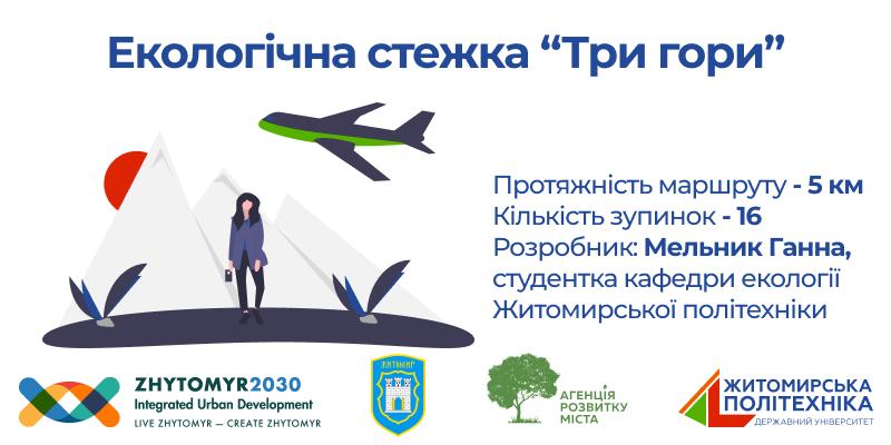 """Онлайн-екскурсія «Три гори» – проект студентки Житомирської політехніки для """"Майстерня міста"""" 2020"""